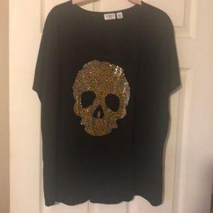 Black skull 💀 top
